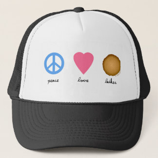 Peace Love Latkes Trucker Hat