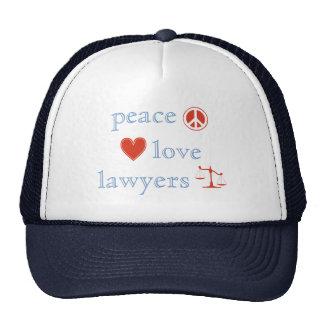 Peace Love Lawyers Cap