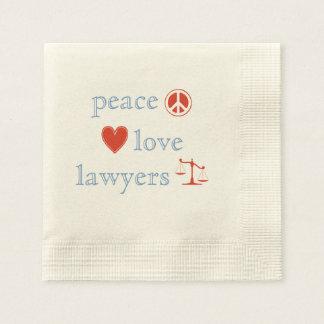 Peace Love Lawyers Disposable Serviettes