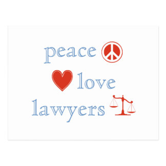 Peace Love Lawyers Postcard