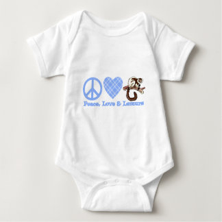 Peace, Love & Lemurs Baby Bodysuit