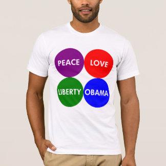 Peace. Love. Liberty. Obama. Union Shirt