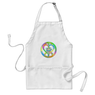 Peace Love Libraries Standard Apron