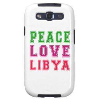 Peace Love Libya Samsung Galaxy SIII Cases