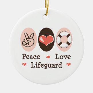 Peace Love Lifeguard Ornament