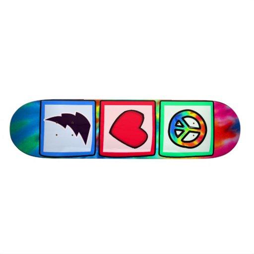 Peace, Love, Lightning Bolt Custom Skate Board