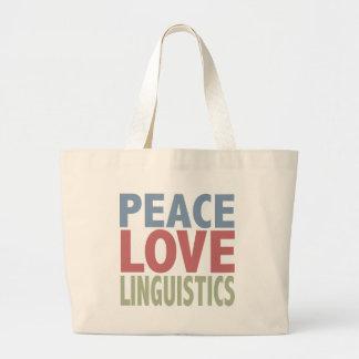 Peace Love Linguistics Jumbo Tote Bag