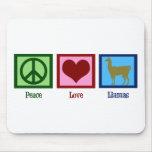 Peace Love Llamas Mousepads
