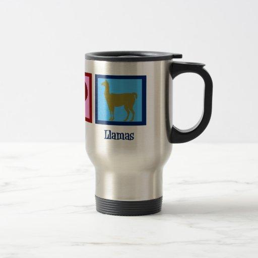 Peace Love Llamas Mug