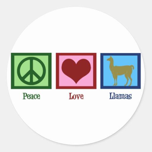 Peace Love Llamas Stickers