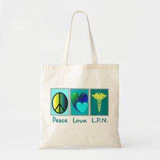 Peace Love LPN Tote Bag