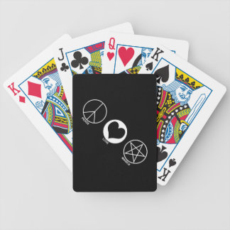 Peace Love Magick Bicycle Playing Cards
