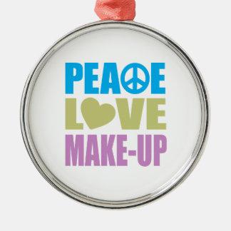 Peace Love Make-Up Metal Ornament