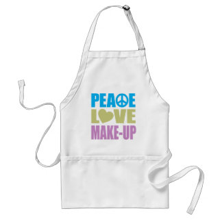 Peace Love Make-Up Standard Apron