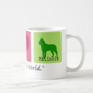 Peace Love Malinois Coffee Mug