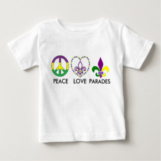 PEACE LOVE MARDI GRAS BABY T-Shirt