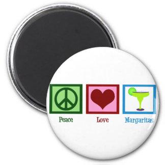 Peace Love Margaritas 6 Cm Round Magnet