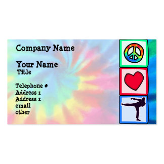 Peace, Love, Martial Arts Pack Of Standard Business Cards