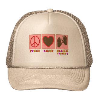 Peace, Love, Massage Therapy Cap