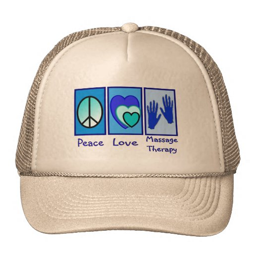 Peace, Love, Massage Therapy Gifts Trucker Hats