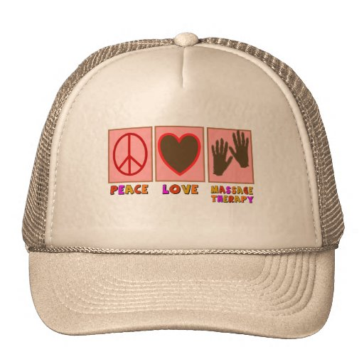 Peace, Love, Massage Therapy Hat