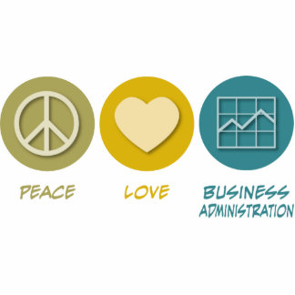 Peace Love Master of Business Administration Photo Sculpture Decoration