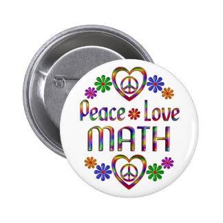 Peace Love Math Button