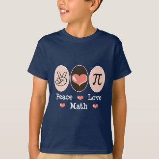 Peace Love Math Kids T-shirt