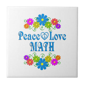Peace Love Math Tile