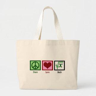 Peace Love Math Bags
