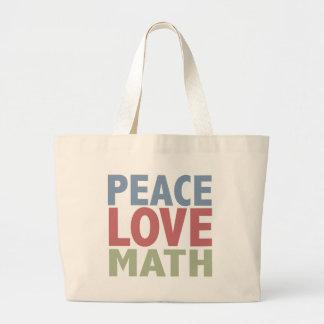 Peace Love Math Tote Bags