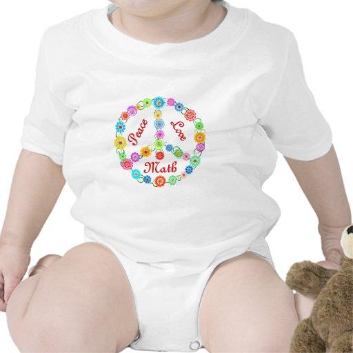 Peace Love Math Tee Shirts