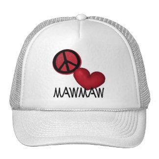 Peace Love MawMaw Cap