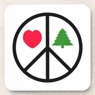 Peace, Love, Merry Christmas Coasters