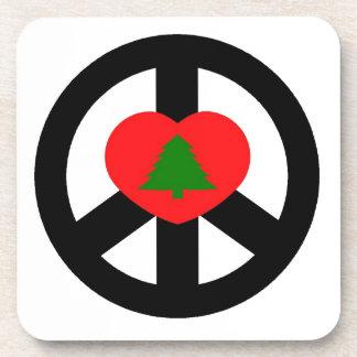 Peace, Love, Merry Christmas Beverage Coaster
