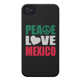 Peace Love Mexico iPhone 4 Case-Mate Cases
