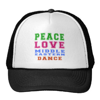 Peace Love Middle eastern Dance Hat