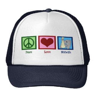 Peace Love Midwife Cap