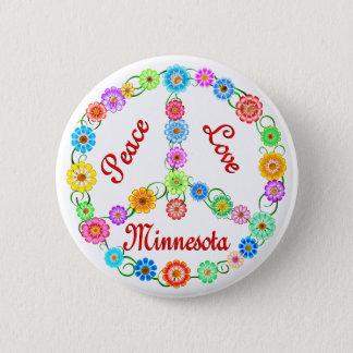 Peace Love Minnesota 6 Cm Round Badge