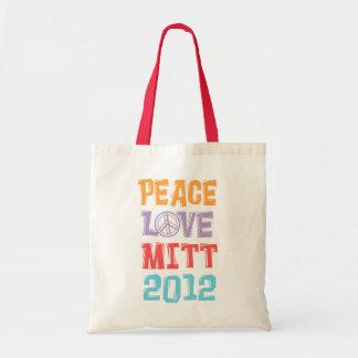PEACE LOVE MITT 2012 BUDGET TOTE BAG