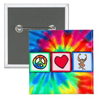 Peace Love Monkeys Pin