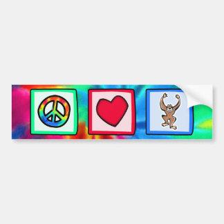 Peace, Love, Monkeys Bumper Sticker