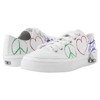 Peace, Love, Monkeys Shoe Printed Shoes