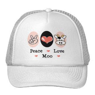 Peace Love Moo Cow Hat