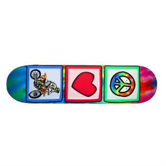Peace, Love, Motocross Custom Skateboard