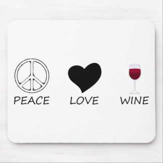 peace love mouse pad