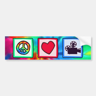 Peace, Love, Movies Bumper Sticker