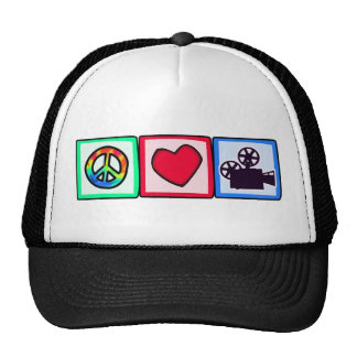 Peace, Love, Movies Trucker Hat