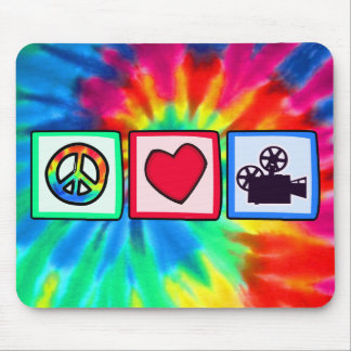 Peace, Love, Movies Mouse Pad