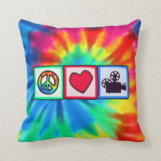 Peace Love Movies Pillow